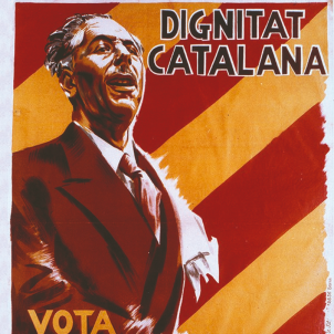 El president Companys guanya les eleccions des de la presó. Cartell electoral. Font Universitat de Barcelona (1)