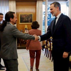 Pablo Iglesias rei Felip VI Consell Ministres EFE