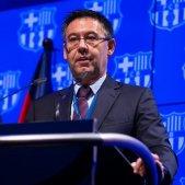 Josep Maria Bartomeu president escut Barca @FCB