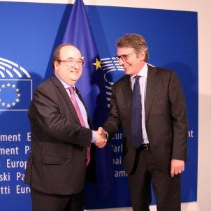Iceta Sassoli Parlament Europeu - ACN
