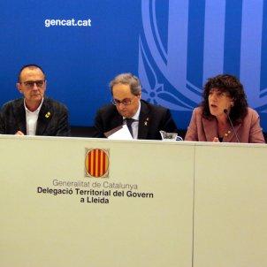 President Quim Torra Consellera Teresa Jordà alcalde Lleida Miquel Pueyo - ACN