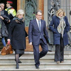 Mas, Ortega i Rigau surten del judici 9N / Sergi Alcàzar