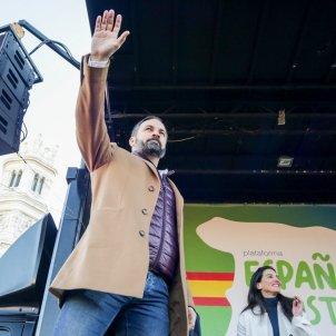 Santiago Abascal braç Europa Press