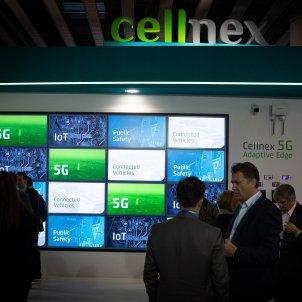 EuropaPress 1962106 Estand de 'cellnex' promocionanado la tecnología 5G en el recinto ferial del Mobile World Congress de Barcelona   MWC 2019