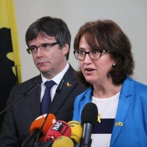 Carles Puigdemont Elisenda Paluzie - ACN