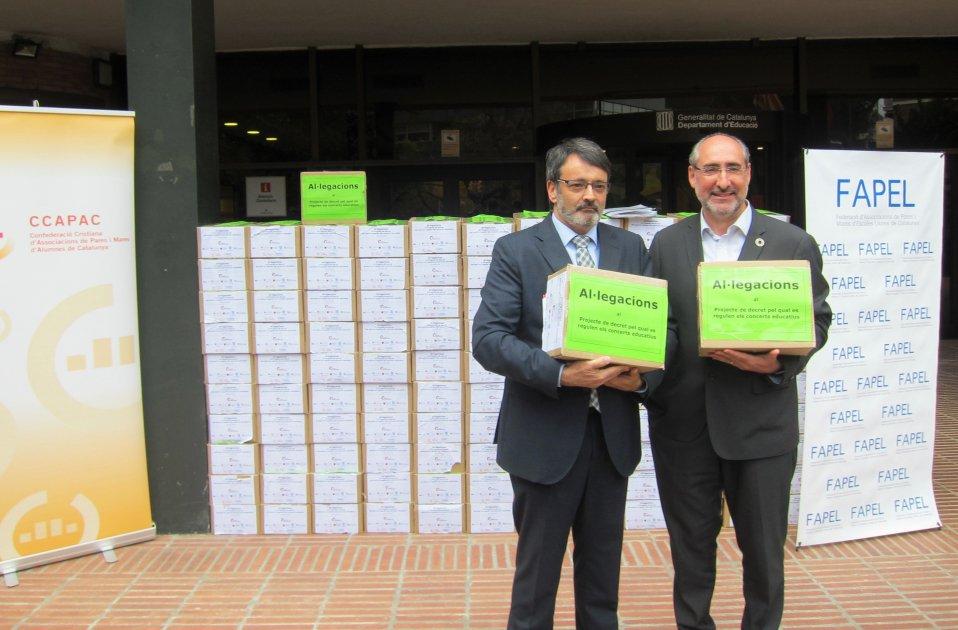 Albert Alegre (CCAPAC) y Josep Manuel Prats (Fapel) escola concertada Europa Press