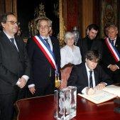 Torra i Puigdemont ajuntament Perpinyà   ACN