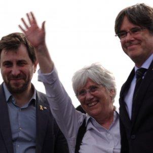 Comín, Ponsatí i Puigdemont Perpinyà 4   Roberto Lázaro
