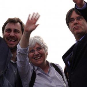 Comín, Ponsatí i Puigdemont Perpinyà 1   Roberto Lázaro