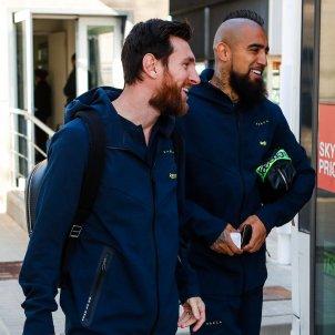 Leo Messi Arturo Vidal desplacament Madrid @FCBarcelona