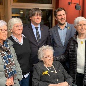 Puigdemont, Ponsatí i Comín amb les seves mares a Perpinyà