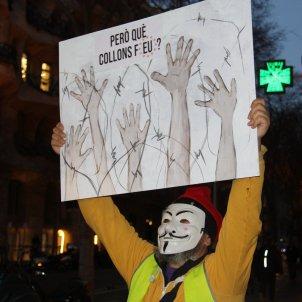 protesta violencia refugiats - acn