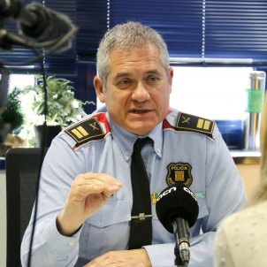 El cap de la Regió Metropolitana Nord dels Mossos, el comissari Sergi Pla, durant una entrevista amb l'ACN