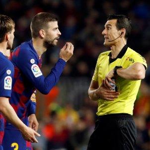 Gerard Pique arbitre Barca Reial Societat EFE