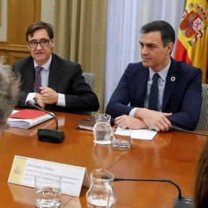 Salvador Illa Pedro Sánchez reunió coronavirus EFE