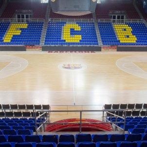 Palau Blaugrana buit sense públic porta tancada FC Barcelona