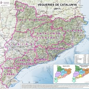 Mapa Vegueries 2017 SCT-SIC/UdL