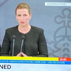 primera ministra danesa Mette Frederiksen TV