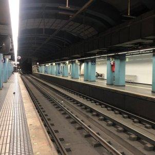 Estació FGC Gràcia buida - I.Vela