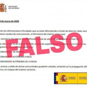 fake news coronavirus moncloa