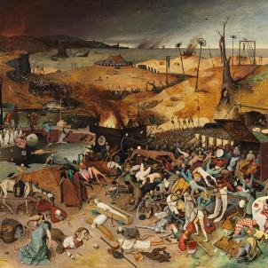 Representació de El Triomf de la Mort (1562) obra de Pieter Brueghel. Font Viquipedia