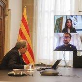 Reunio telematica govern coronavirus president Quim Torra - Ruben Moreno
