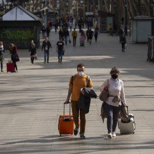 Coronavirus Barcelona La Rambla Rambles Buida turisme turistes - Sergi Alcazar