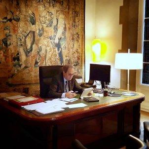Quim Torra reunió govern telemàtica coronavirus / Jordi Bedmar