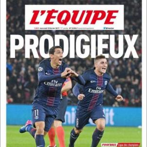 L'Équipe portada PSG Barça 15 02 2017