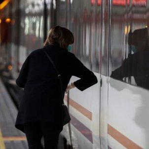 cercanias transport public colze tren Madrid coronavirus - Efe
