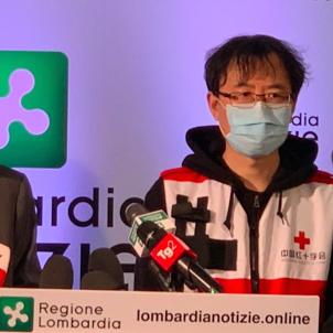 Delegat Creu Roja xinesa Milà Regió Llombardia