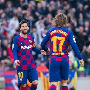 Messi Griezmann Arturo Vidal Barca Europa Press