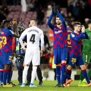 Pique Sergi Roberto Umtiti Barca Reial Madrid Lliga @FCBarcelona