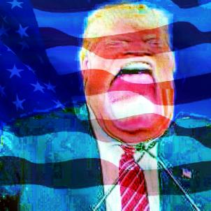 Donald Trump caricatura (IoSonoUnaFotocamera)
