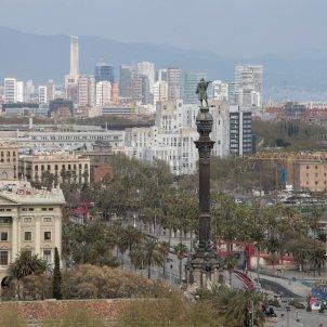 coronavirus imatge barcelona ciutat estatua colon   efe