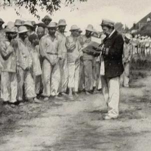 Camp nord americà de presoners de guerra espanyols a Santiago de Cuba. Font Wikipedia