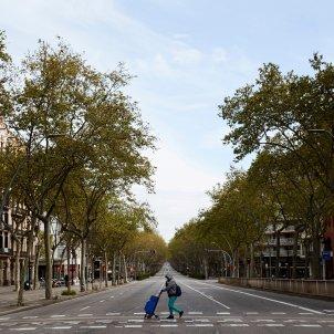 coronavirus   gran via barcelona   carrers buits   efe