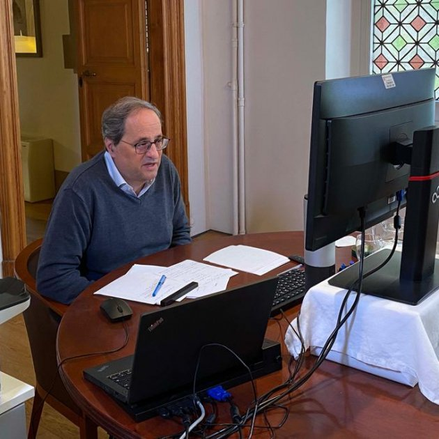 Quim Torra reunio pedro sanchez presidents autonomies coronavirus - ruben moreno