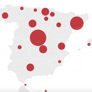 casos coronavirus espana actualizado ultima hora mapa