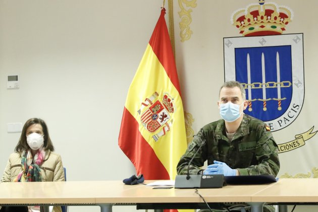 Felipe militar mascarilla Europa Press