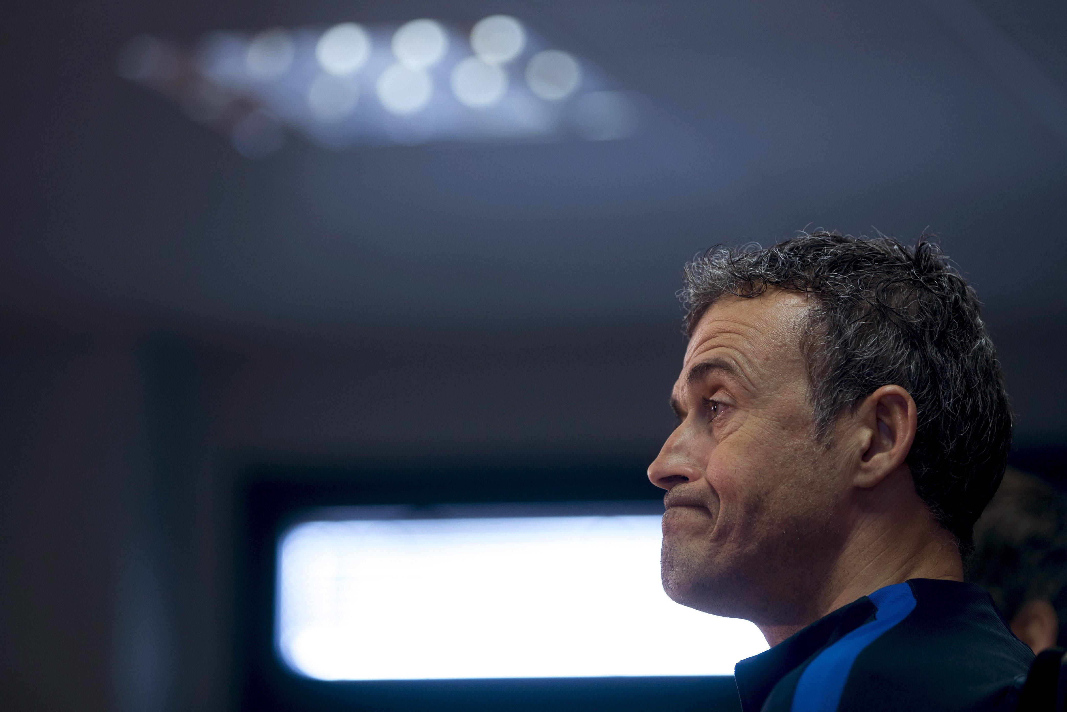 Luis Enrique roda premsa Barça EFE