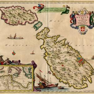 L'arrel catalana de Malta. Mapa holandès de 1656