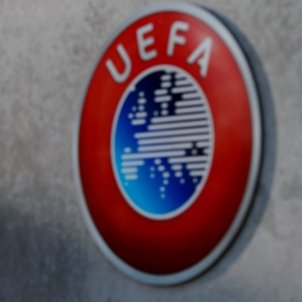 Uefa logo Seu Suissa Nyon Europa Press