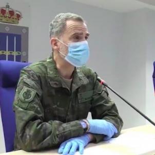 Rei Felip VI vestit militar EFE