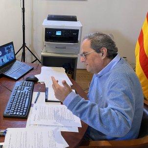 Quim Torra videoconferencia foto Generalitat de Catalunya (4)