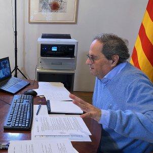 Quim Torra videoconferencia foto Generalitat de Catalunya (1)