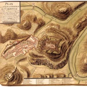 Desvalls, l'heroi oblidat de 1714. Plànol francés de Cardona. Any 1711