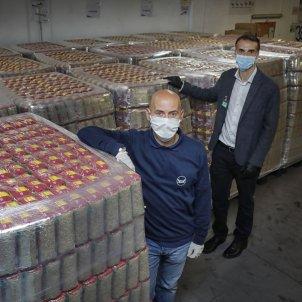 Oriol Dolader (Banc dels Aliments) i Joan Gili (Mercadona) coronavirus