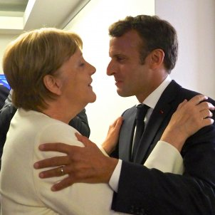 Angela MERKEL Emmanuel MACRON Special meeting of the European Council June 2019 (European Union)