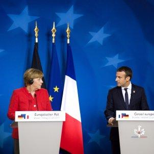 Angela Merkel Emmanuel Macron 2019 (Consell Europeu)